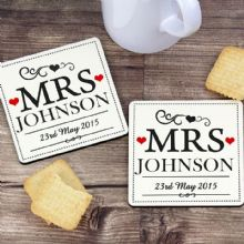 Mrs & Mrs Coaster Set
